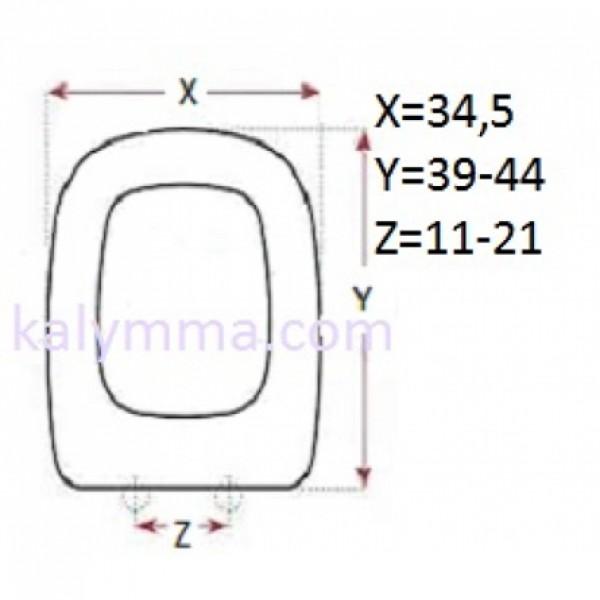 PL-3020 ΚΑΛΥΜΜΑ ΛΕΚΑΝΗΣ ΓΙΑ VAVID / DELTA 34.5 Χ 39-44