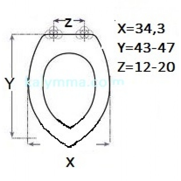 PL-3252 ΚΑΛΥΜΜΑ ΛΕΚΑΝΗΣ ΓΙΑ IDEAL STANDARD ONDINE-ONELINE-ELLISSE 2 34.3X43-47